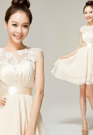 Wedding Dress/ Bridesmaid Dress/Formal Dress Champagne color