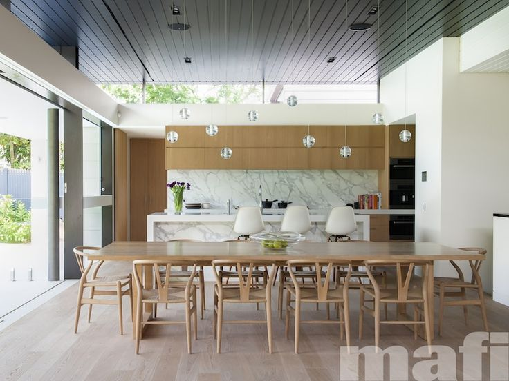 Mosman house by tanner kibble denton architects likes colour of cabinets marble backspash