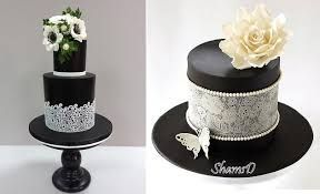 Image result for elegant black and white cupcakes