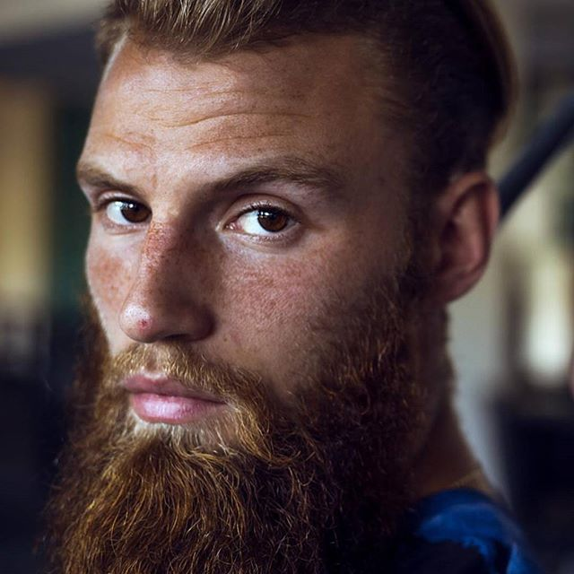 Moisturize your beard with oil-free beard lotion.