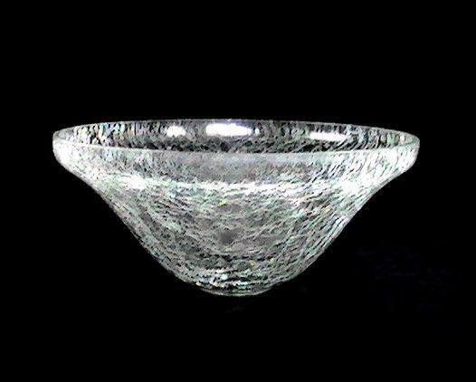 Hanging Candle Potpourri Holder Bowl Crackle Glass 7 7 8 X