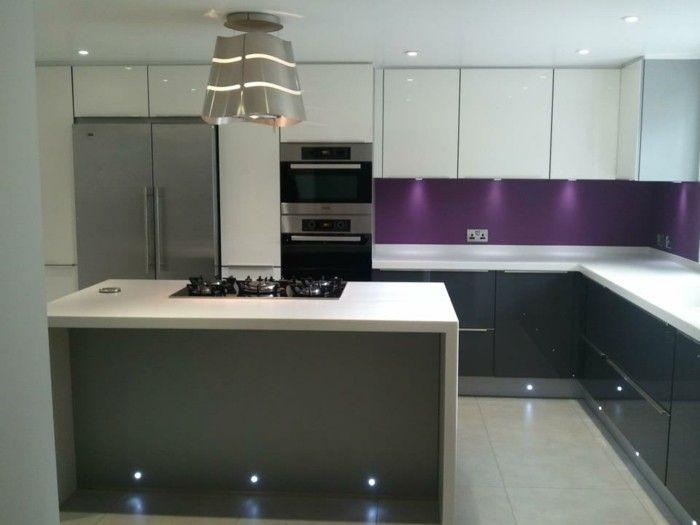 cuisine gris anthracite 56 id es pour une cuisine chic et moderne bricolage pinterest. Black Bedroom Furniture Sets. Home Design Ideas