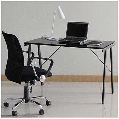 Wade Picked This Out But With A Purple Gl Top 44 Black Desk At Lots Minecraft Bedroom Pinterest And