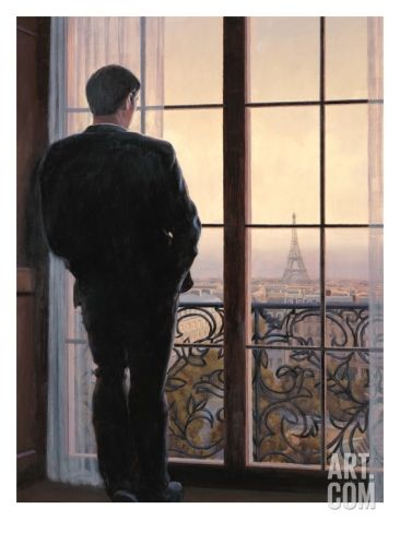 Waiting for Paris 1 Stretched Canvas Print by Myles Sullivan at Art.com