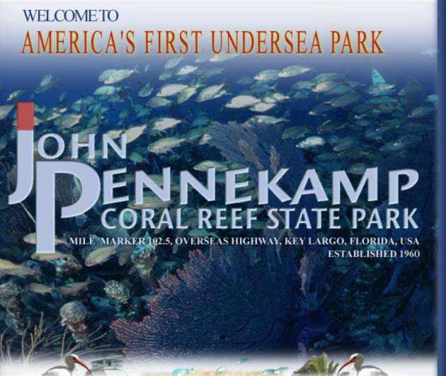 USA/Florida/Key Largo:  Welcome to John Pennekamp Coral Reef State Park - Key Largo, Florida Keys