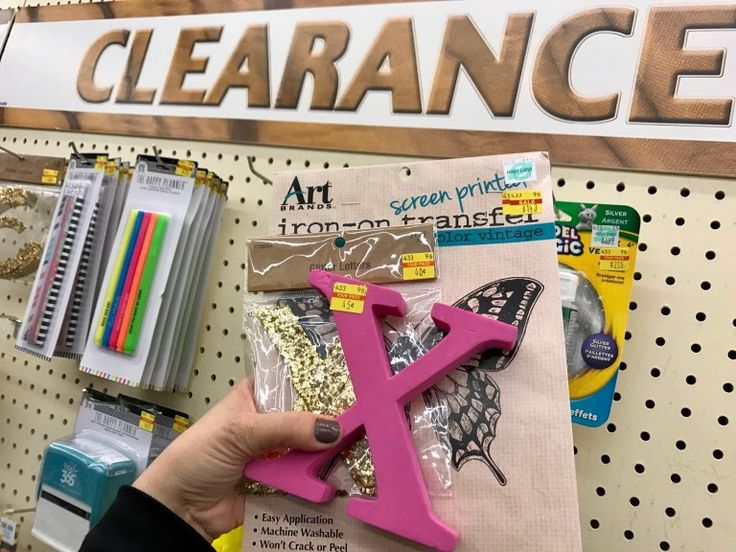 Look for 90% off items on the clearance wall