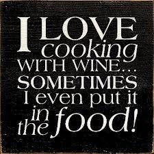 Love cooking, love wine!
