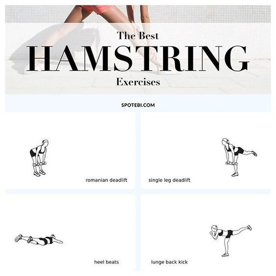 Shape and tone the back of your thighs  and lift your booty  with our TOP 10 HAMSTRING Exercises!!! Head over to http://www.spotebi.com/fitness-t… | Pinterest
