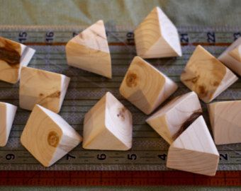 Thick Wood Triangles, set of 12 // Thick Equilateral Triangles // Unfinished Wood Craft Supplies // DIY Drawer Pull Knobs