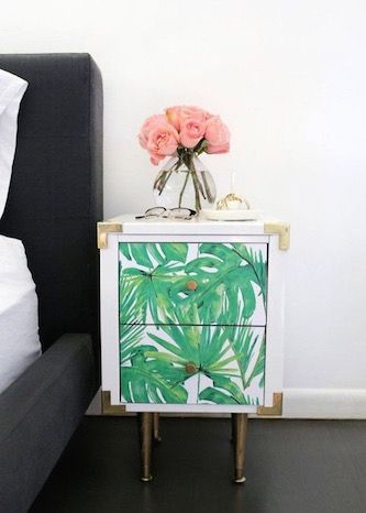 Update a IKEA or Target chest of drawers with a splash of paint and some printed wallpaper