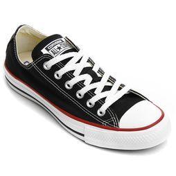 Tênis Converse All Star - Preto+Vermelho R$ 149,90