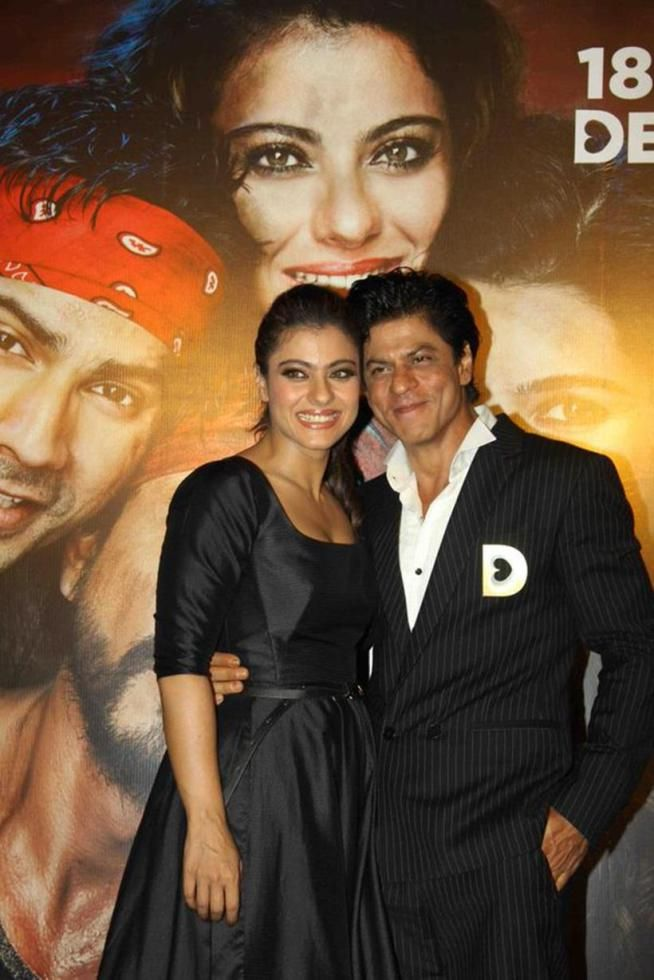 Shah Rukh Khan and Kajol at Dilwale Trailer launch (2015)