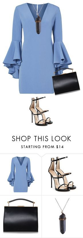 """""""Sin título #12004"""" by marlilu ❤ liked on Polyvore featuring Milly, Giuseppe Zanotti and Handle"""