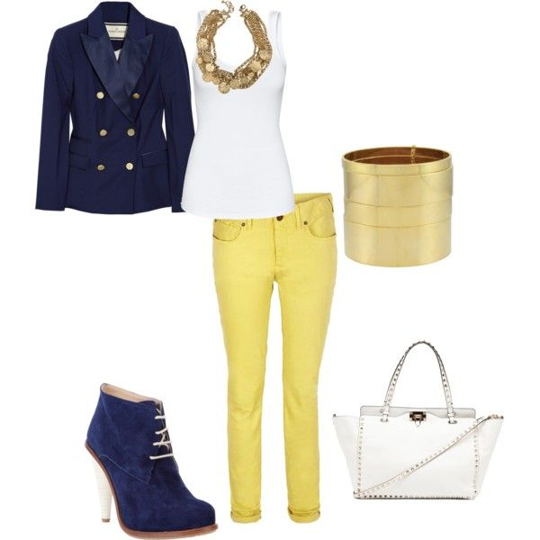 Yellow Jeans outfit minus those boots