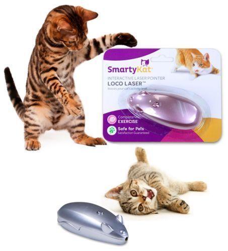 Smartykat Loco Laser Cat Toy Interactive Laser Pointer