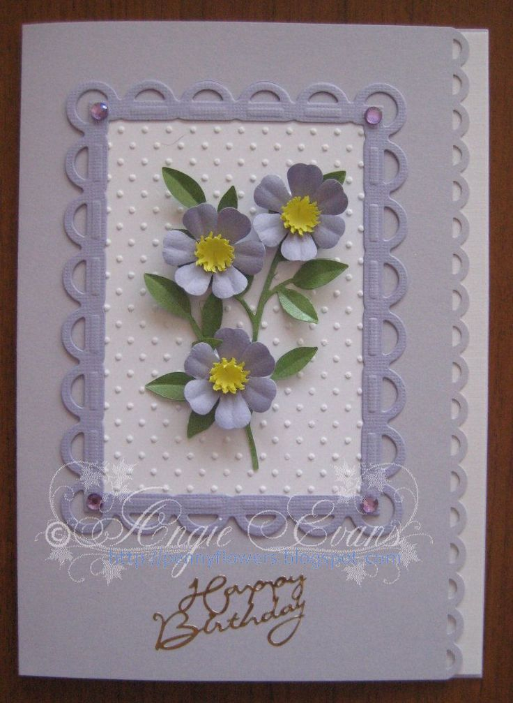 This Peary flower is one of my flower designs featured in my eBook - PENNY FLOWERS.  I had quite a few birthday cards to make this mo...
