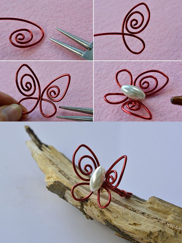 Like this special wire wrapped butterfly ring? LC.Pandahall.com will publish the tutorial soon.                   #pandahall