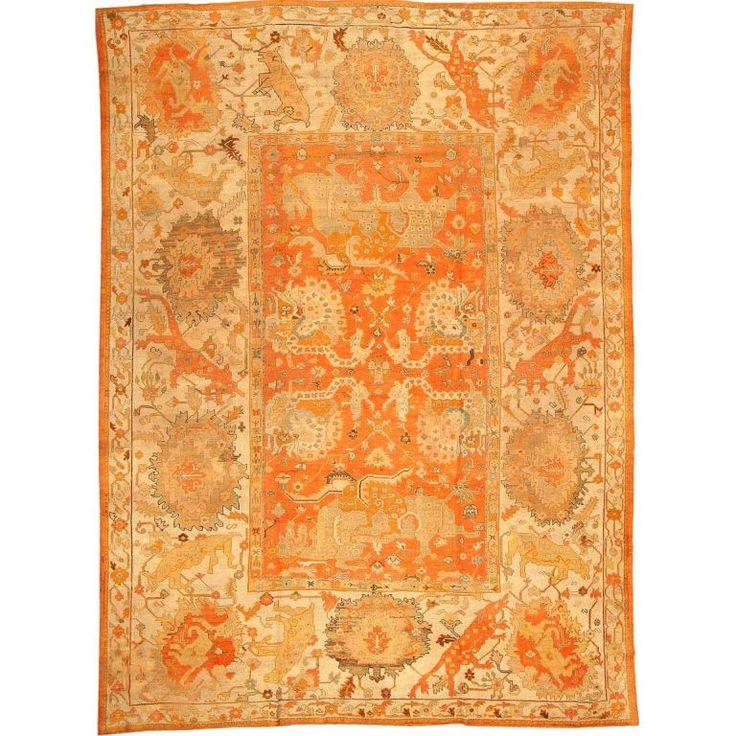 Wonderful Antique Oushak Carpet
