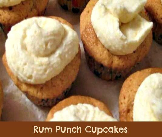 Rum Punch Cupcakes. #cupcakes #rum