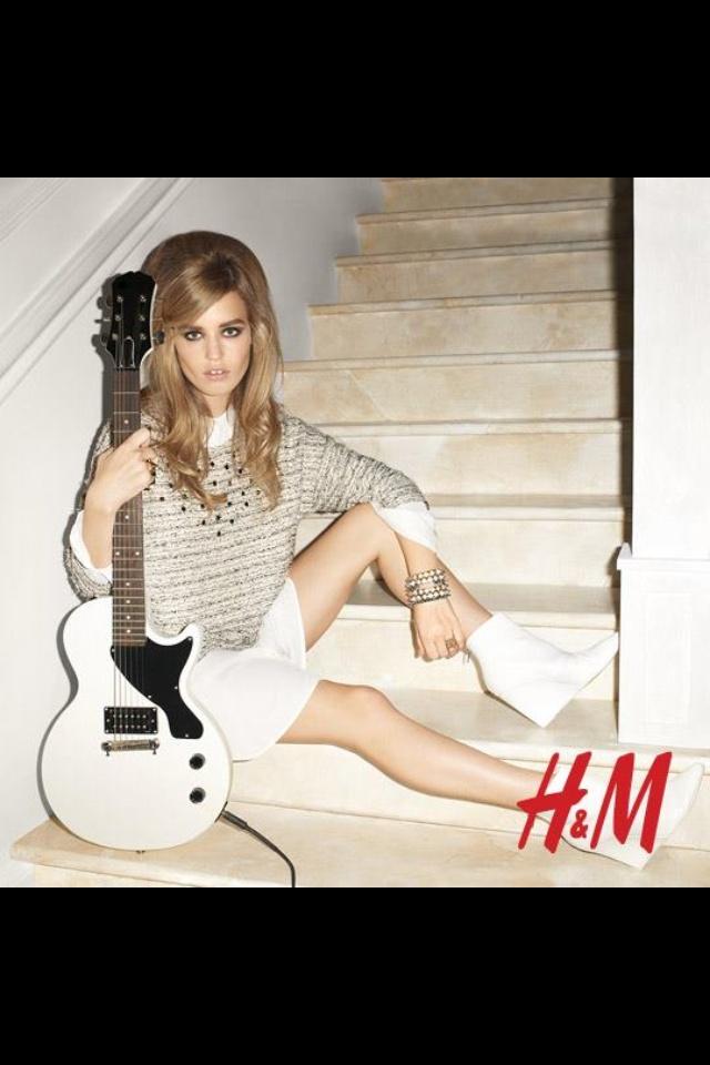 "Georgia May Jagger in ""rock and roll mansion"" -HM spring 2013 campaign"