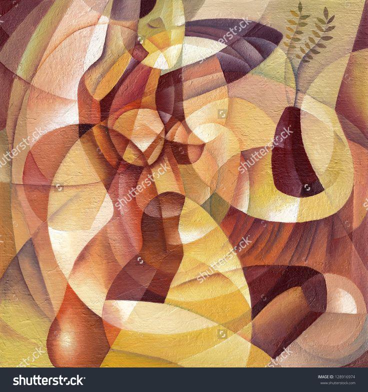 Cubist Portrait by Eugene Ivanov. #eugeneivanov #elegant #woman #portrait #lady #painting #art #nude #cubism #girl #female #femina #@eugene_1_ivanov