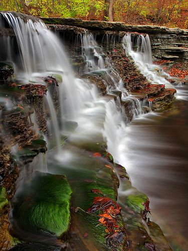 Falls on First Creek ~ Morrow, Ohio camping here in a few weeks with my love