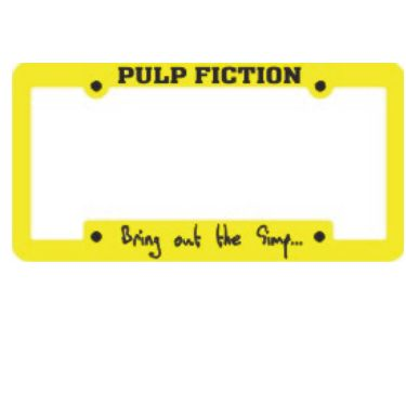 Promotional Yellow promotional Custom personalized THIN TOP vanity wholesale silkscreened plastic license plate auto frames. We are also THE FLORIDA PROMOTIONAL DEALERSHIP SOURCE for Die Cast Zinc Metal Frames and Aluminum Stamp Plates! CUS2B117 Tallahassee, FL http://www.alphapromoworld.com/auto/cycle-products/wholesale-license-plate-frames/custom-license-plate-frames/cat_117.html 321-751-0022