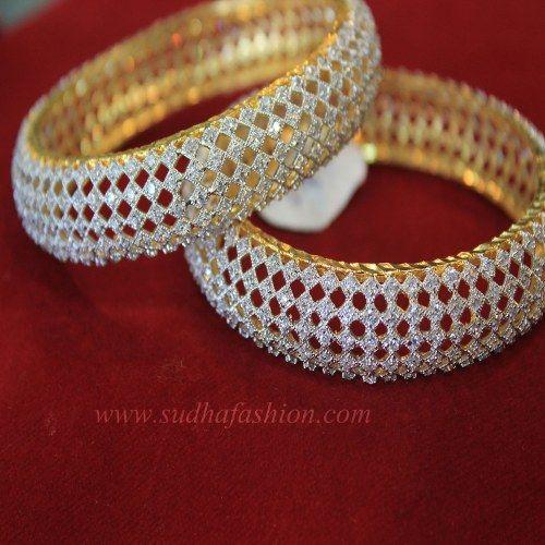 Designer CZ Bangles - Online Shopping for Bracelets n Bangles by sudhafashion