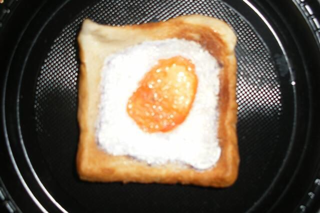 Fathers Day painted Egg on toast covered in pva glue to seal. Put a magnet on the back and stick it on the fridge.