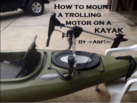 Mount a trolling motor on a KAYAK - YouTube