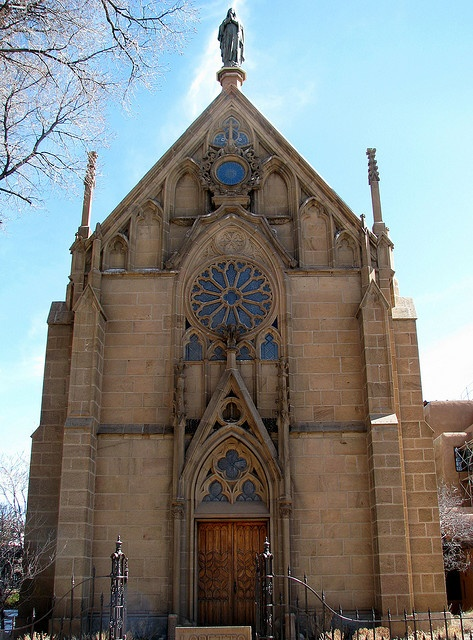 Loretto Chapel, Santa Fe, NM. My dream wedding was held at this beautiful and special chapel.