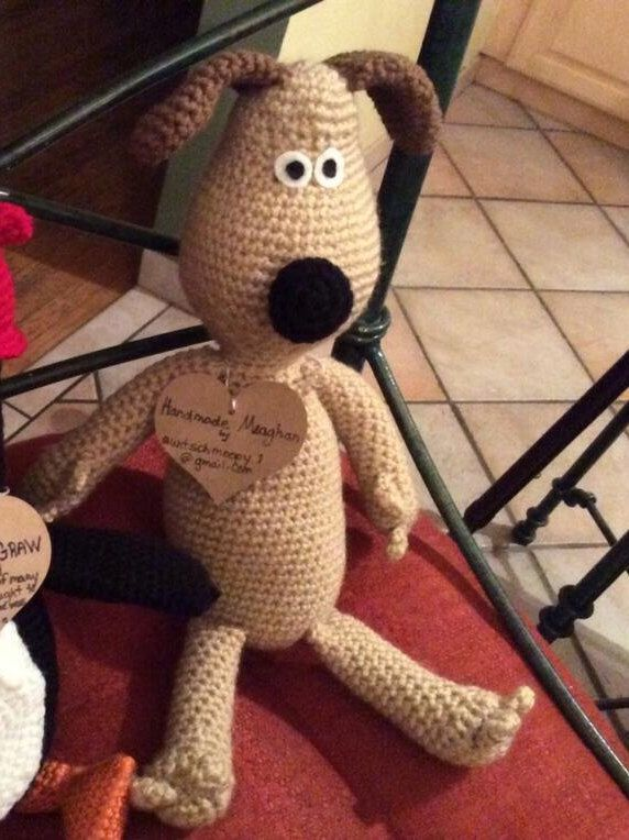 A personal favorite from my Etsy shop https://www.etsy.com/ca/listing/254177599/gromit-inspired-crochet-plush