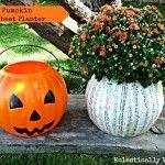 Plastic Pumpkin Music Sheet Planter