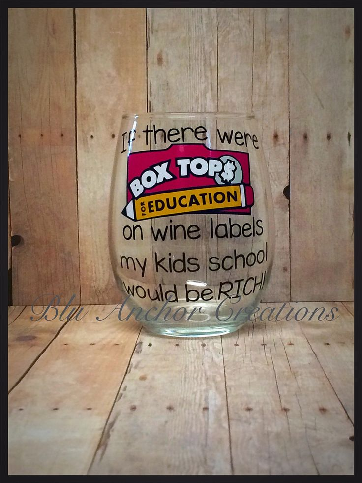 This is an adorable item for the busy Box Top parents!  We have two different glasses. We have the traditional wine glass with a stem and then
