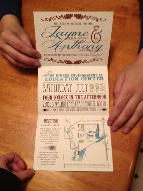 Invitations - Jayme and Anthony?! Really??