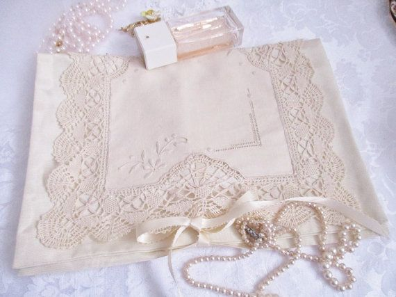Satin and lace lingerie bag mini storage by EnglishGardenTeaShop