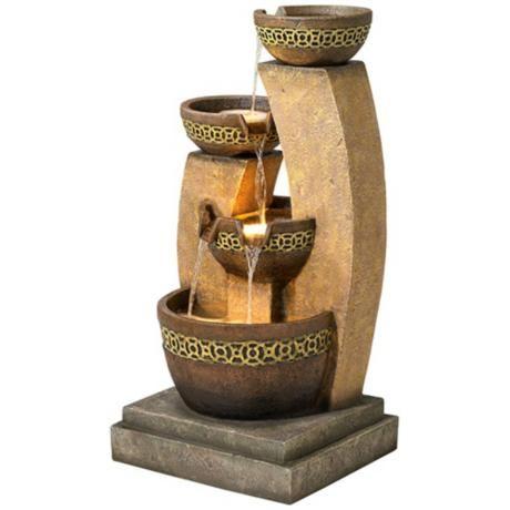 Three Bowl Cascading Fountain