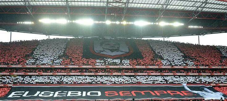 Jogo Benfica porto homenagem a Eusébio ganha o Benfica Portugal ...  Benfica 2 porto 0 grande Vitória dedicada ao grande Eusébio ...