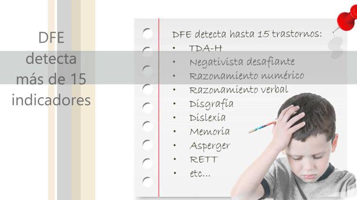 Sotfware para la detección temprana de dificultades en el aprendizaje DFE