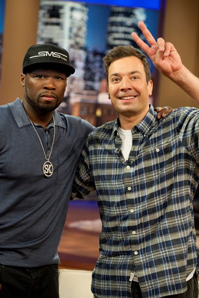 Bromance! 50 Cent and Jimmy Fallon hang out at QVC New Hip Hop Beats Uploaded http://www.kidDyno.com