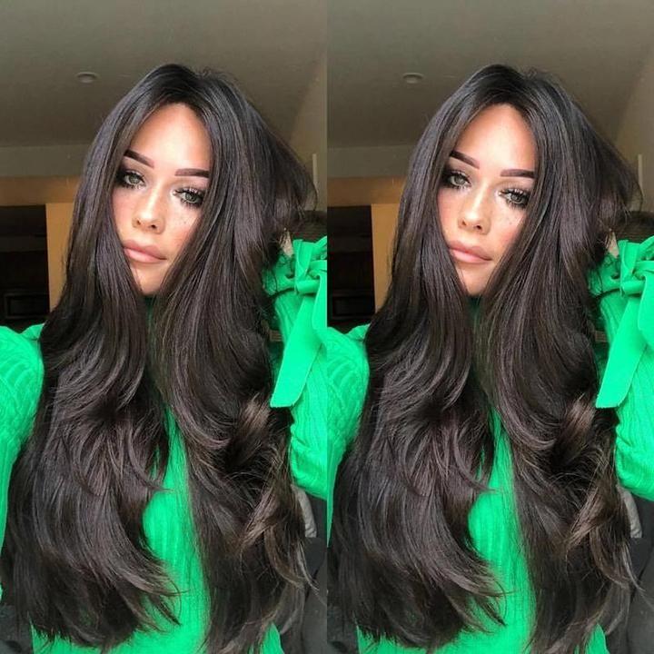 Loose Natural Black Color Wavy Wig