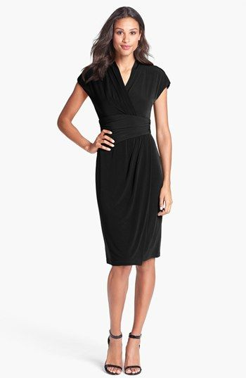 Ivy & Blu Ruched Faux Wrap Dress (Regular & Petite) available at #Nordstrom