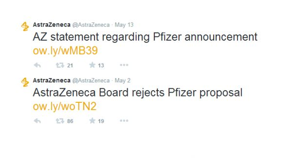 Pfizer and AstraZeneca: A Social Takeover