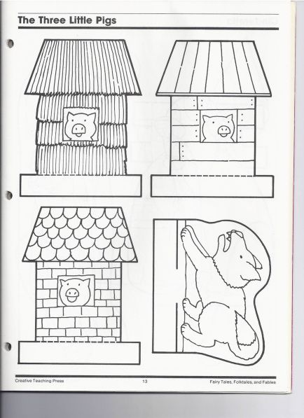 The Three Little Pigs  by Kindergarten Nana has ideas for setting up a puppet theatre and printables to go with it.
