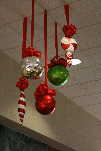 office decor for christmas. large shaped christmas decorations in the office pre party excitement decor for