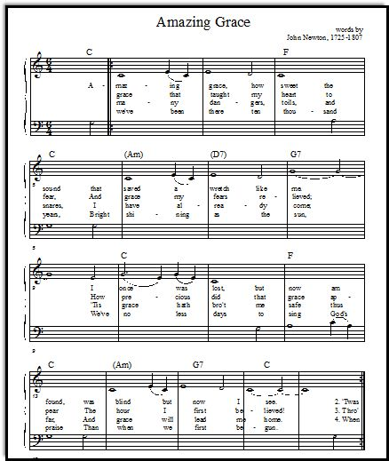 Amazing Grace Free Piano Sheet Music With Lyrics: Best 25+ Easy Piano Songs Ideas On Pinterest