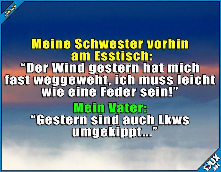 Peinliche Stille am Esstisch ^^' #Sturm #stürmisch #Deutschland #Wetter #Sprüche #lustig #peilnich #Humor