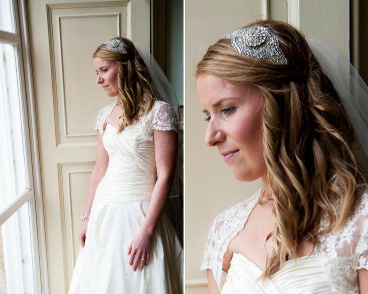 Debbie Carlisle Real Bride Diana Statement Crystal Bridal Headband