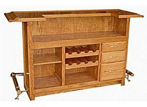 Build the Home Bar of Your Dreams with One of These 8 Free Plans: Free Home Bar Plan from Bob's Woodworking Plans