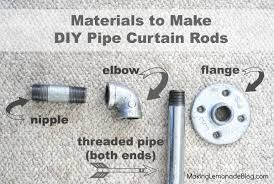 Image result for plumbing pipes as curtain rods